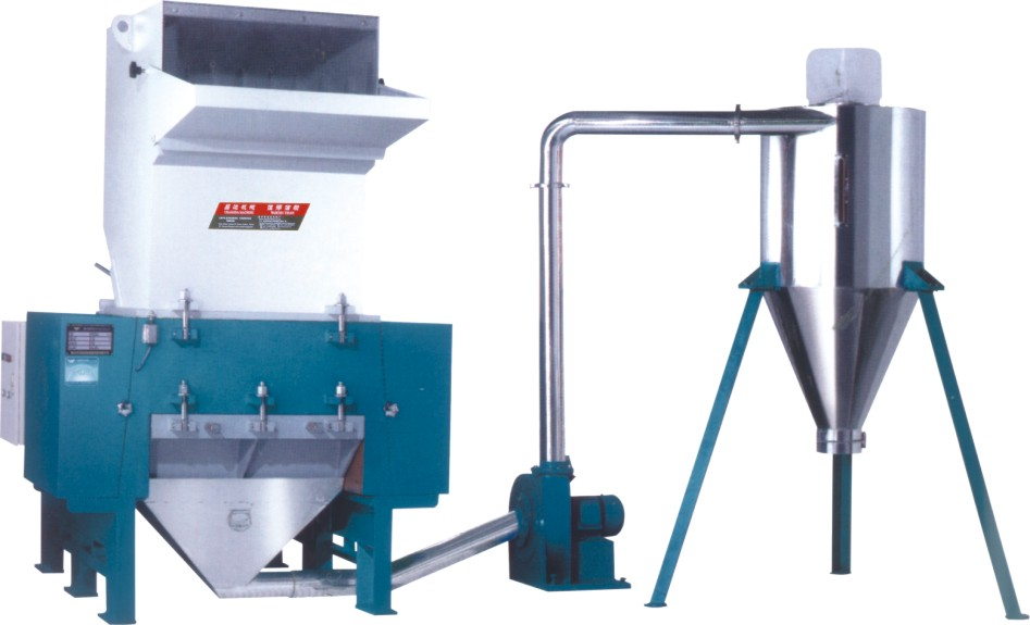 plastic crusher with silo