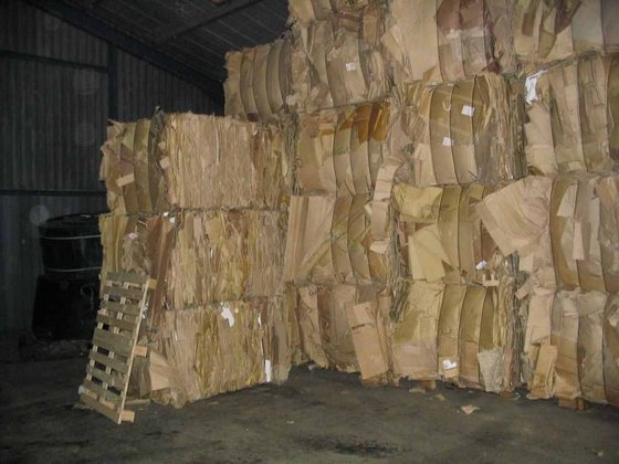 Old corrugated cuttings